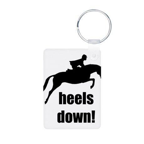 heels down jumper Aluminum Photo Keychain