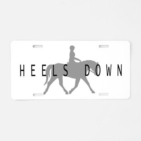Heels Down Flat Rider Aluminum License Plate
