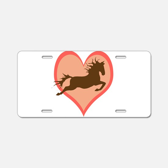 Horse In My Heart Aluminum License Plate