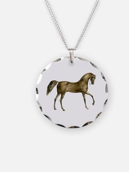 Vintage Horse Necklace Circle Charm
