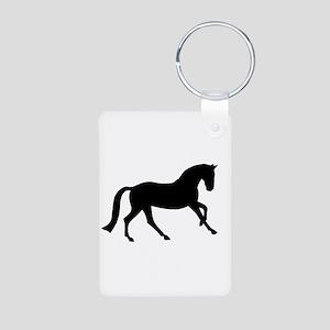 Cantering Horse Aluminum Photo Keychain