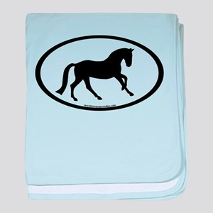 Canter Horse Oval baby blanket