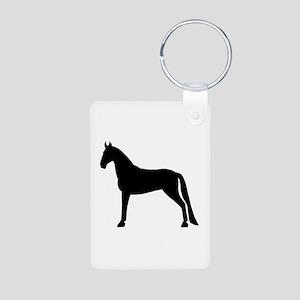 Tennessee Walking Horse Aluminum Photo Keychain