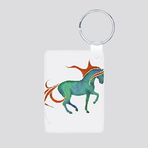 mosaic horse Aluminum Photo Keychain