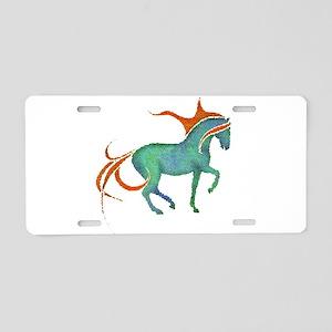 mosaic horse Aluminum License Plate
