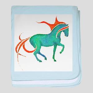 mosaic horse baby blanket