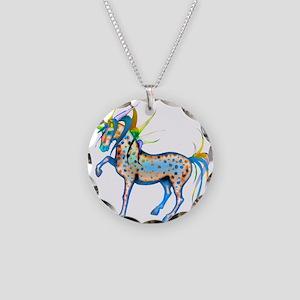 Crazy Colors Appaloosa Necklace Circle Charm