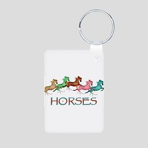 many leaping horses Aluminum Photo Keychain