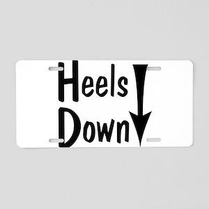 Heels Down! Arrow Aluminum License Plate