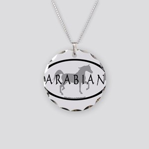 Arabian Horse Text & Oval (gr Necklace Circle