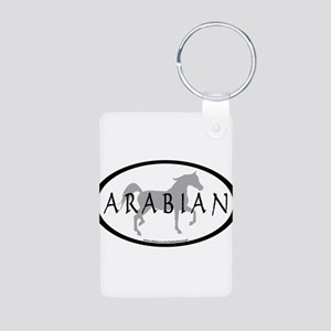 Arabian Horse Text & Oval (gr Aluminum Photo K