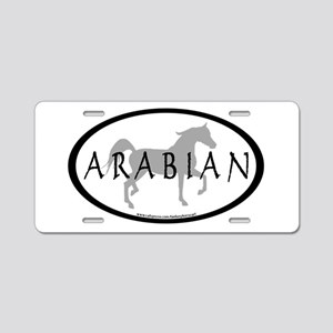 Arabian Horse Text & Oval (gr Aluminum License
