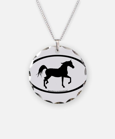 Arabian Horse Oval Necklace