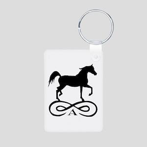 Infinity Arabian Horse Aluminum Photo Keychain