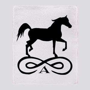 Infinity Arabian Horse Throw Blanket