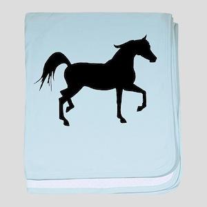 Arabian Horse Silhouette baby blanket