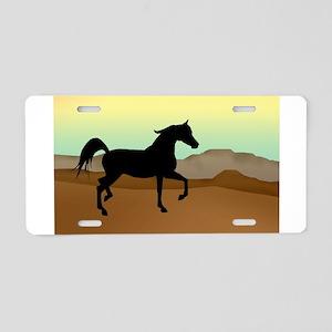 Desert Arabian Horse Aluminum License Plate