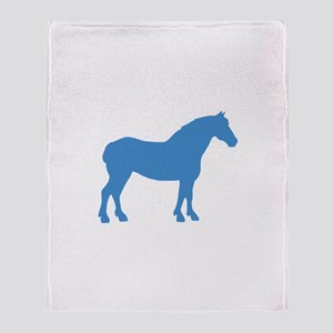 Blue Draft Horse Throw Blanket