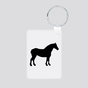 Draft Horse Aluminum Photo Keychain