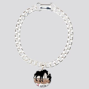 Horse & Girl (version w/ colo Charm Bracelet,
