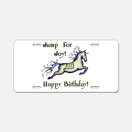 Happy Birthday! Horse Aluminum License Plate