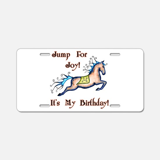 Joy Birthday Horse Aluminum License Plate