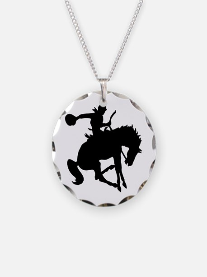 Bucking Bronc Cowboy Necklace