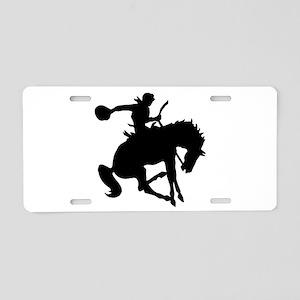 Bucking Bronc Cowboy Aluminum License Plate