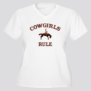 cowgirls rule Women's Plus Size V-Neck T-Shirt