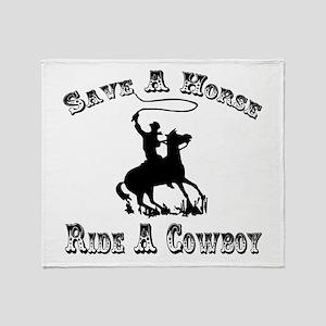 Ride A Cowboy Throw Blanket
