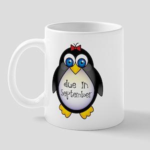 Penguin September Due Date Mug