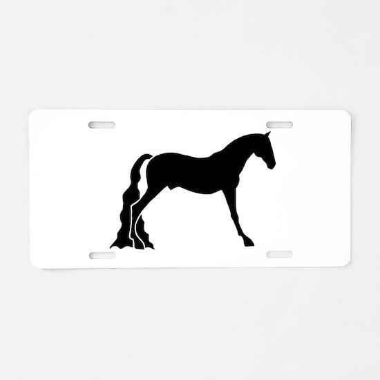 saddle horse Aluminum License Plate