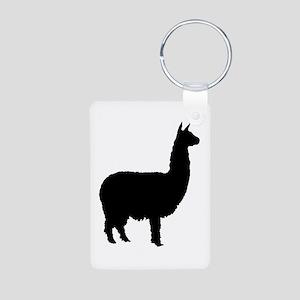 alpaca Aluminum Photo Keychain