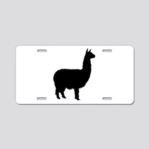 alpaca Aluminum License Plate