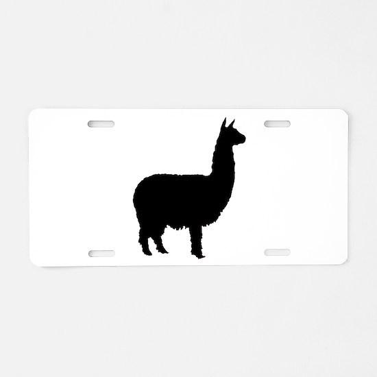 alpaca Aluminum License Plate