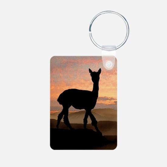 Alpaca Sunset Keychains
