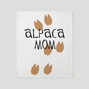 Alpaca Mom Throw Blanket