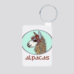 alpaca annie's Aluminum Photo Keychain
