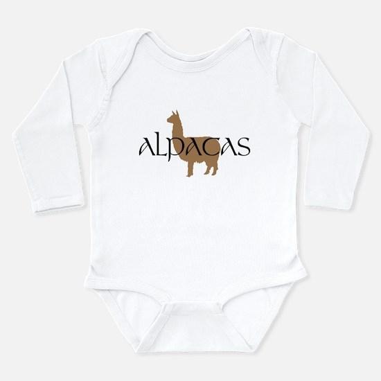 Cute Camelid Long Sleeve Infant Bodysuit