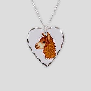 Awesome Alpacas Necklace Heart Charm