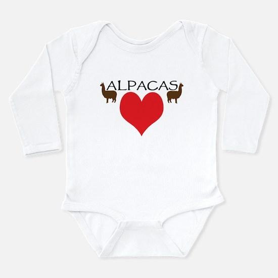 Unique Camelid Long Sleeve Infant Bodysuit