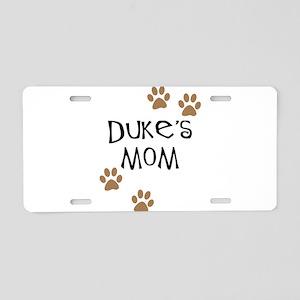 Duke's Mom Dog Names Aluminum License Plate