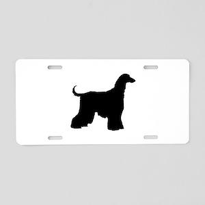 Afghan Hound Dog Aluminum License Plate