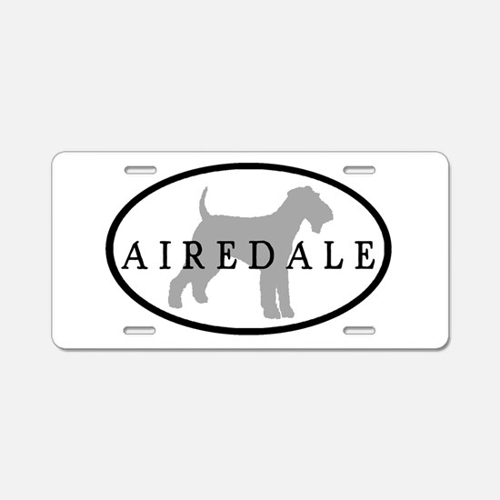 Airedale Terrier Oval #3 Aluminum License Plate