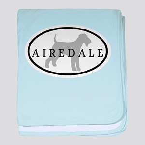 Airedale Terrier Oval #3 baby blanket