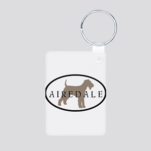 Airedale Terrier Oval #2 Aluminum Photo Keychain