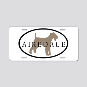 Airedale Terrier Oval #2 Aluminum License Plate
