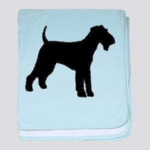 Airedale Terrier Dog baby blanket