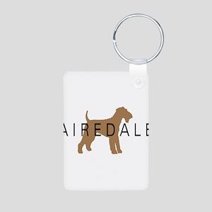 Airedale Aluminum Photo Keychain