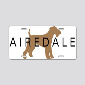 Airedale Aluminum License Plate